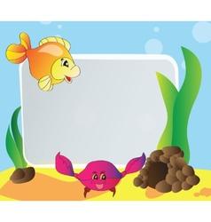 Frame - marine life vector image