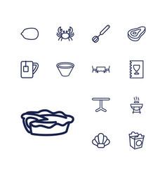 13 restaurant icons vector