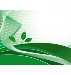 abstract green background with plants vector image