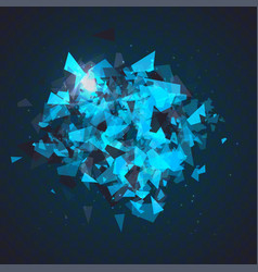 Abstract triangles particles with transparent vector