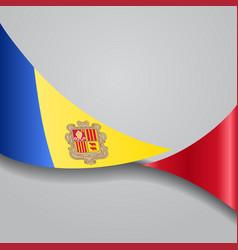 Andorran wavy flag vector