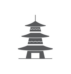 asian pagoda icon symbol architecture isolated on vector image
