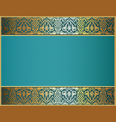 Background frame with gold ornament and place for vector