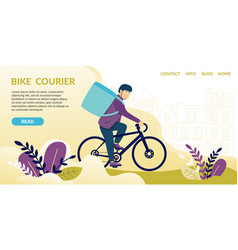 Bike courierread messengers communicate devices vector