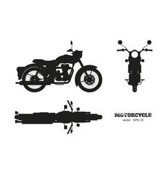 black silhouette retro classic motorcycle vector image