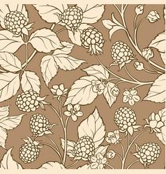 blackberry seamless pattern vector image