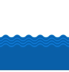 Blue Sea Wave Seamless Background vector image