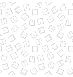 book minimal seamless pattern in thin line vector image