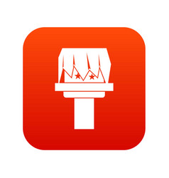 Box magic icon digital red vector