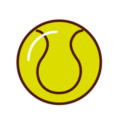 brightly tennis ball cartoon vector image