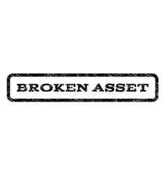 Broken asset watermark stamp vector