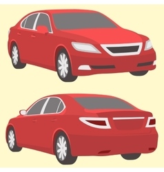 car two view front and back vector image