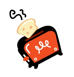 Cartoon retro toaster vector image