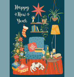 christmas and happy new year sweet vector image