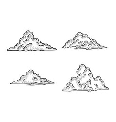 clouds sketch engraving vector image