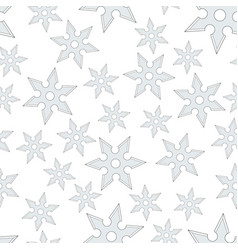 Cold steel shuriken seamless pattern vector