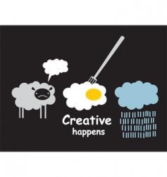 Creative happens vector