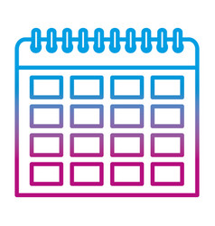 Degraded line organizer calendar to important vector