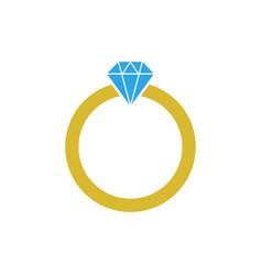 Diamond ring graphic design template vector