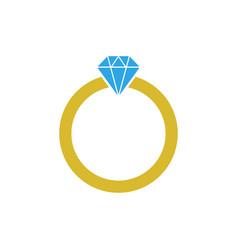 diamond ring graphic design template vector image