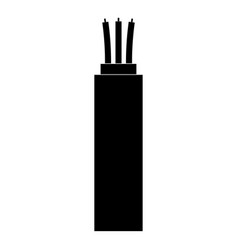 Electric cable the black color icon vector