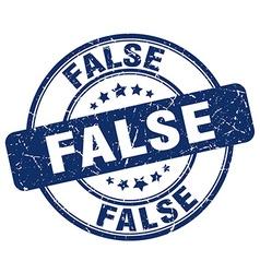 false blue grunge round vintage rubber stamp vector image