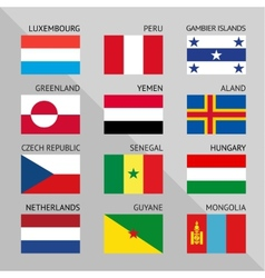 Flags of world flat set number 04 vector