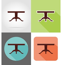 Furniture flat icons 16 vector