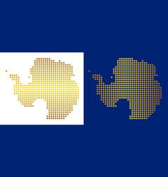 Gold dot antarctica map vector