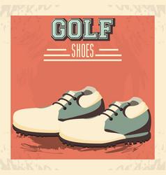 Golf uniform shoes icon vector