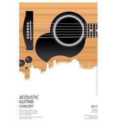 Guitar concert poster background template vector