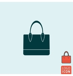 handbag icon isolated vector image