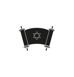 Happy day of hanukkah day icon black vector