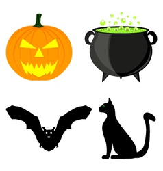 icon set for Halloween vector image