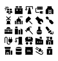 Industrial Colored Icons 2 vector