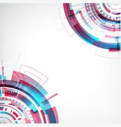 Innovative virtual abstract future template vector