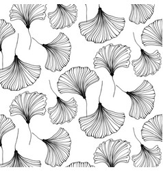 japanese gingko beautiful background vector image