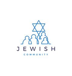 jewish community people family logo icon vector image
