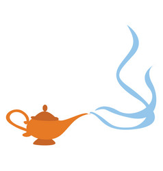 Magic lamp on white background vector