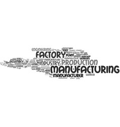 Manufacturer word cloud concept vector