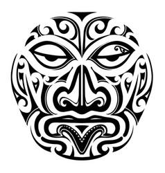 maori style mask design vector image