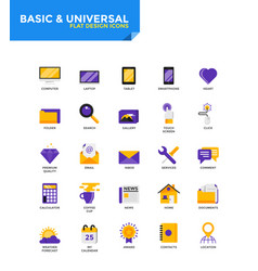 Modern material flat design icons - basic and vector