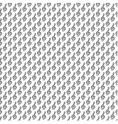 Music note seamless pattern hand drawn sketched vector