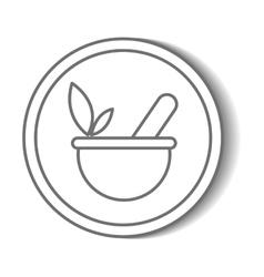 Natural spa center icons vector