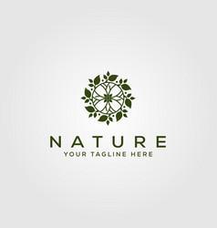 Nature leaf circle logo design green leaf logo vector