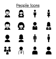 People man woman person icon set graphic design vector