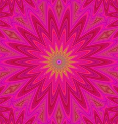 Pink abstract geometric flower design background vector