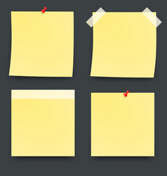 Post blank sticky paper sheet vector