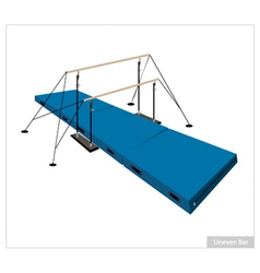 Professional gymnastic uneven bars on white vector