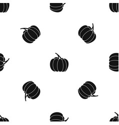 pumpkin pattern seamless black vector image